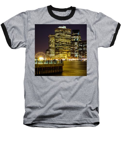 Downtown Lights Baseball T-Shirt