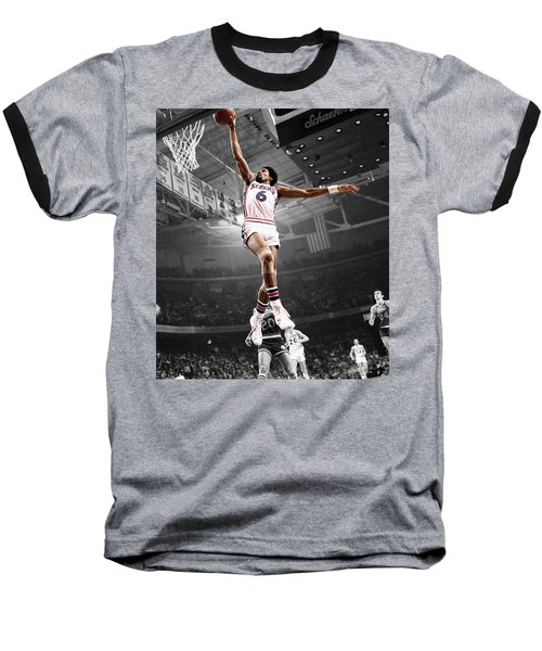 Dr J Baseball T-Shirt by Brian Reaves