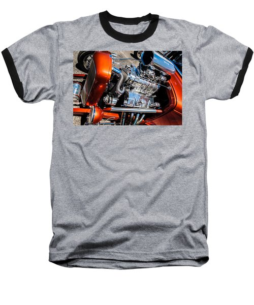 Drag Queen - Hot Rod Blown Chrome  Baseball T-Shirt