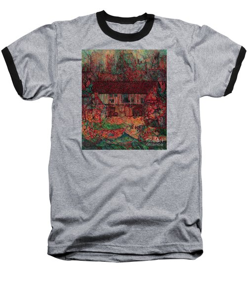 Dragon Hall Baseball T-Shirt by Anna Yurasovsky