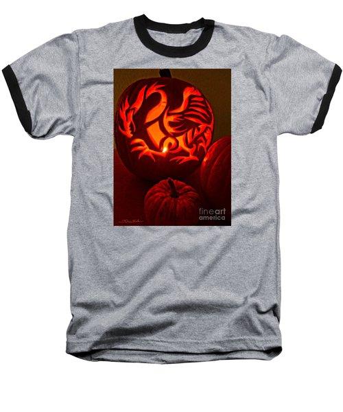 Dragon Lantern Baseball T-Shirt by Gem S Visionary