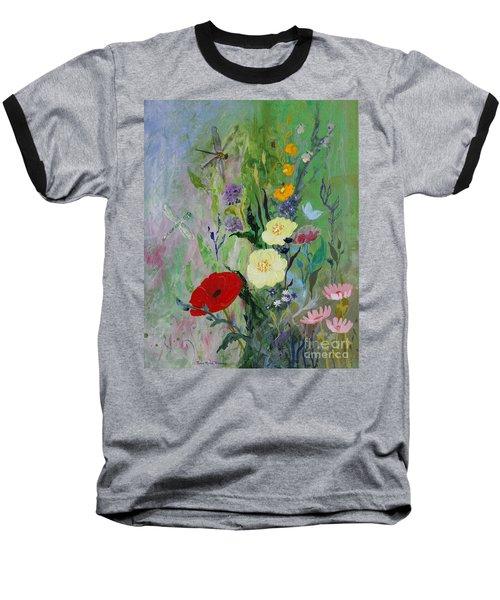 Dragonflies Dancing Baseball T-Shirt by Robin Maria Pedrero
