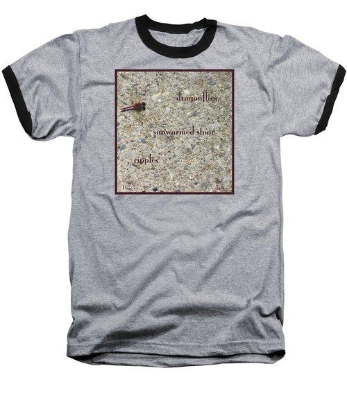 Baseball T-Shirt featuring the photograph Dragonflies Haiga by Judi and Don Hall