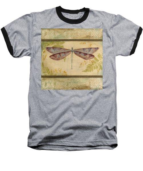 Dragonfly Among The Ferns-3 Baseball T-Shirt