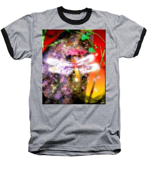 Baseball T-Shirt featuring the digital art Dragonfly by Daniel Janda