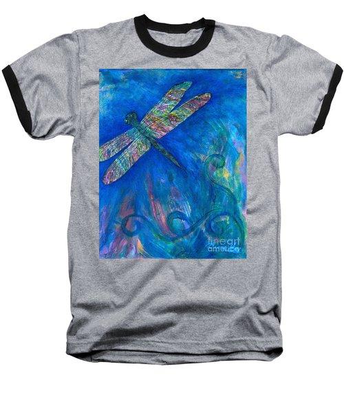 Dragonfly Flying High Baseball T-Shirt