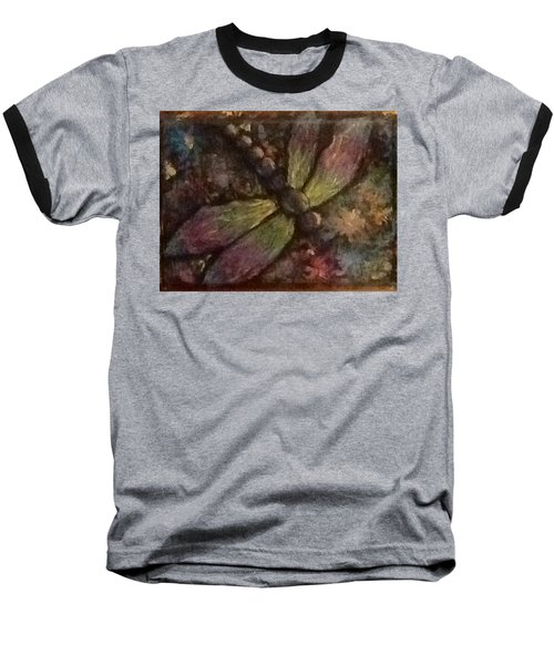 Baseball T-Shirt featuring the painting Dragonfly by Megan Walsh