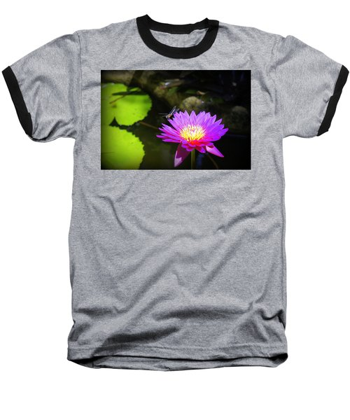Baseball T-Shirt featuring the photograph Dragonfly Resting by Laurie Perry
