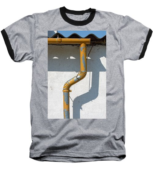 Drainpipe White Structured Wall  Baseball T-Shirt