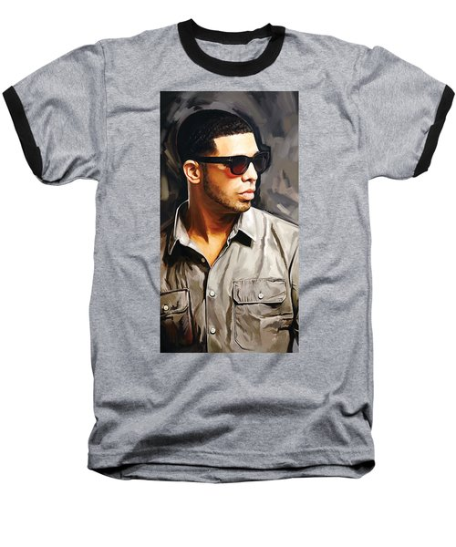 Drake Artwork 2 Baseball T-Shirt