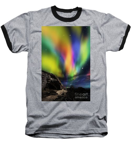 Dramatic Aurora Baseball T-Shirt