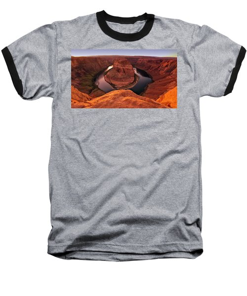Baseball T-Shirt featuring the photograph Dramatic River Bend by David Andersen