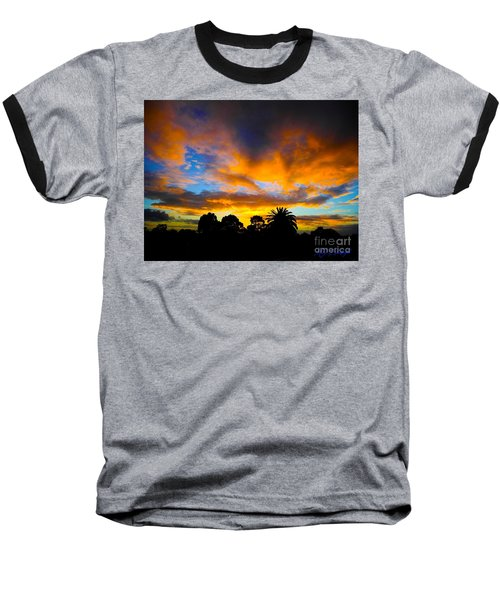 Baseball T-Shirt featuring the photograph Dramatic Sunset by Mark Blauhoefer