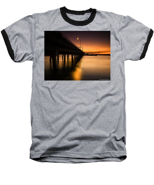 Drawbridge At Sunset Baseball T-Shirt