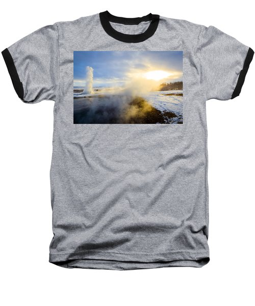 Baseball T-Shirt featuring the photograph Drawn To The Sun by Peta Thames