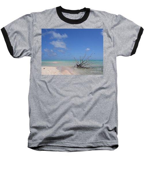 Dream Atoll  Baseball T-Shirt by Jola Martysz