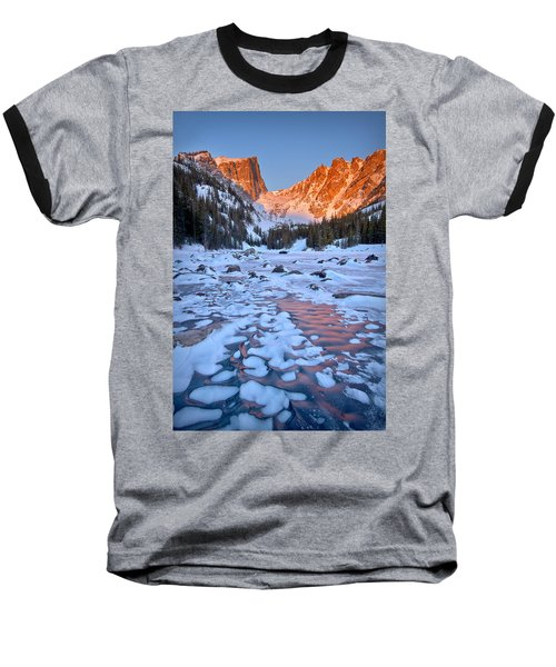 Dream Lake - Rocky Mountain National Park Baseball T-Shirt by Ronda Kimbrow