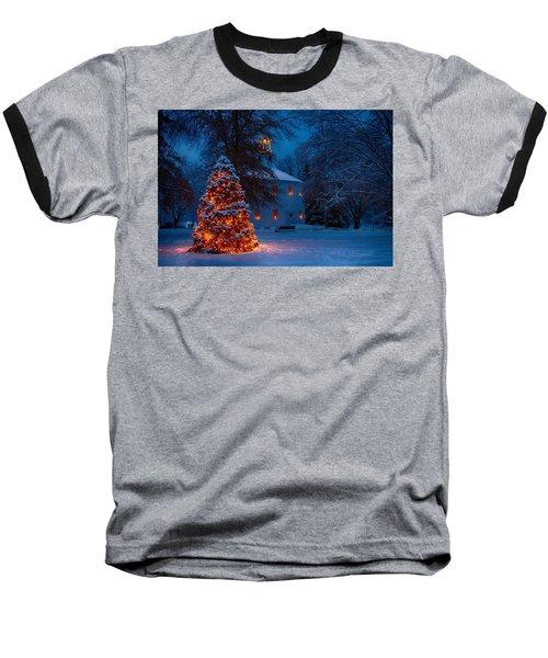 Christmas At The Richmond Round Church Baseball T-Shirt