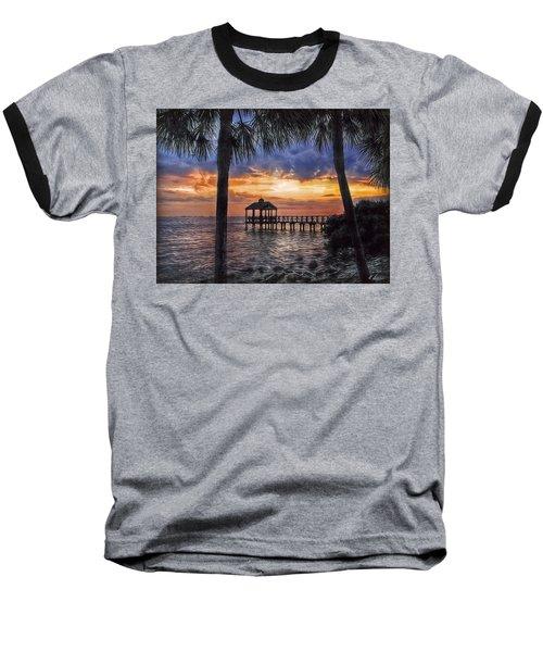Dream Pier Baseball T-Shirt by Hanny Heim