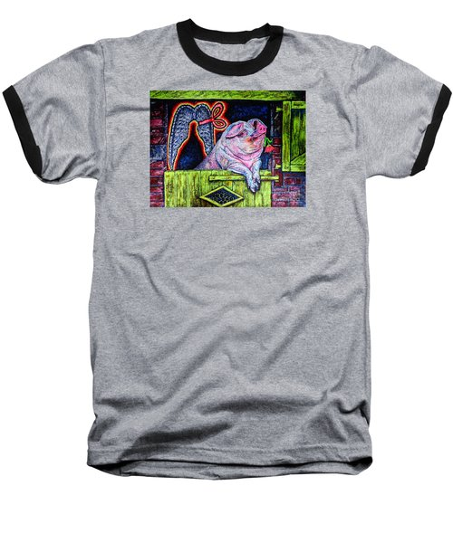 Baseball T-Shirt featuring the painting Dreamer by Viktor Lazarev