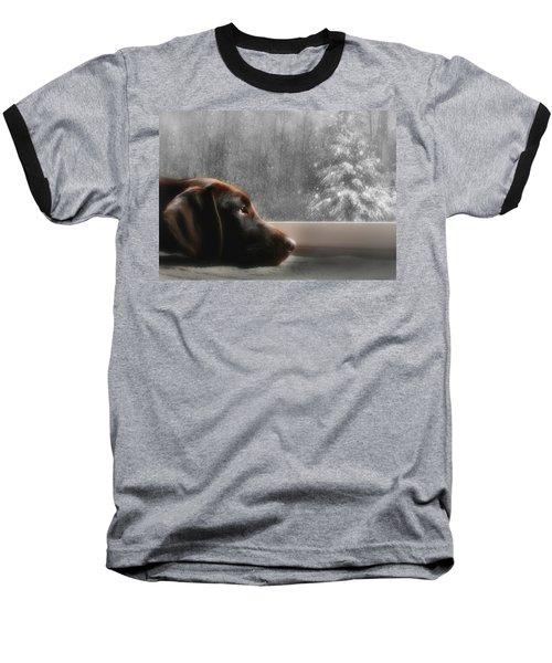 Dreamin' Of A White Christmas Baseball T-Shirt