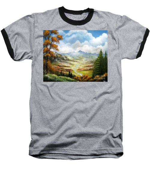 Baseball T-Shirt featuring the painting Dreamin On by Patrice Torrillo