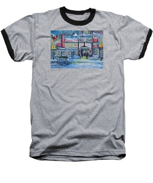 Dreaming Of A White Christmas Baseball T-Shirt by Rita Brown