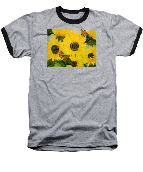 Baseball T-Shirt featuring the painting Dreaming Of Summer by Carol Sweetwood