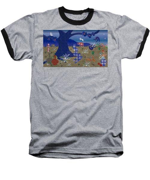 Dreamscape - Limited Edition  Of 30 Baseball T-Shirt by Gabriela Delgado