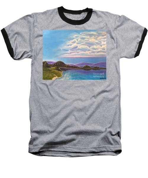 Baseball T-Shirt featuring the painting Dreamscapes by Kimberlee Baxter