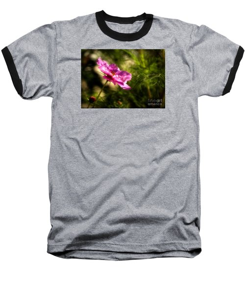 Baseball T-Shirt featuring the photograph Dreamy Pink Comos by Marjorie Imbeau