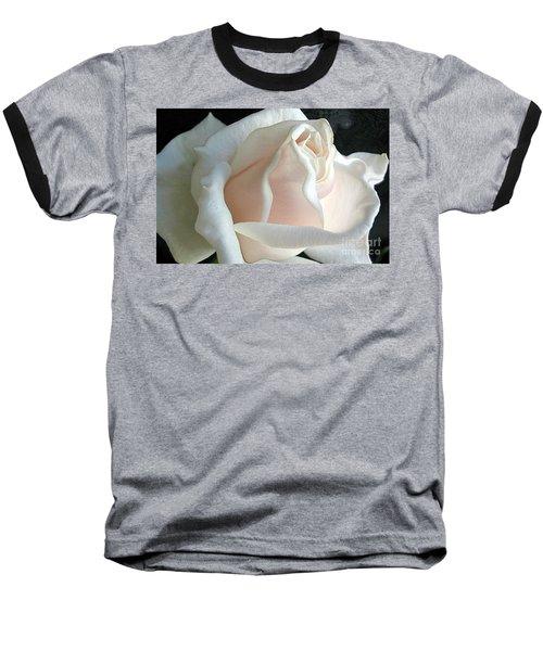 Dreamy White Rose Baseball T-Shirt