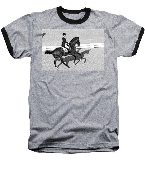 Dressage Une Noir Baseball T-Shirt by Alice Gipson