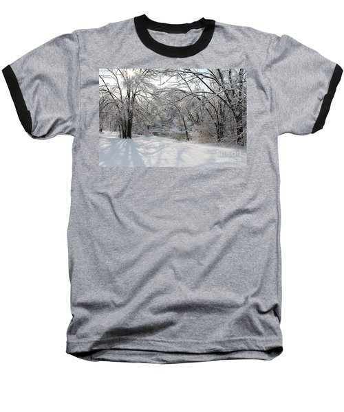 Baseball T-Shirt featuring the photograph Dressed In Snow by Nina Silver