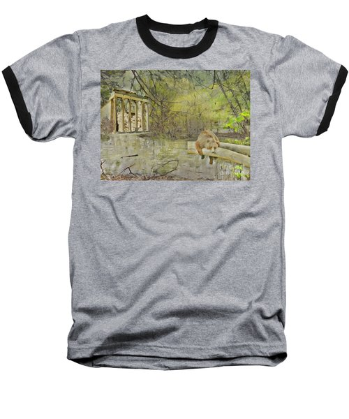 Baseball T-Shirt featuring the photograph Drifter by Liane Wright