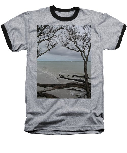 Baseball T-Shirt featuring the photograph Driftwood On The Beach by Christiane Schulze Art And Photography