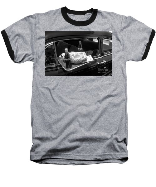 Drive-in Coke And Burgers Baseball T-Shirt