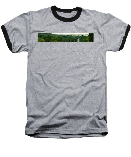 Baseball T-Shirt featuring the photograph Drive The Flint Hills by Brian Duram