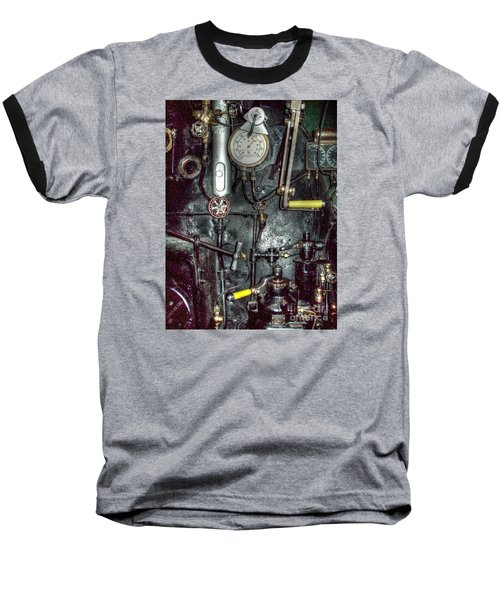 Baseball T-Shirt featuring the photograph Driving Steam by MJ Olsen