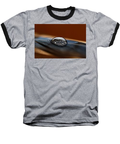 Drop On A Bluejay Feather Baseball T-Shirt