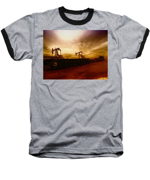 Dropping A Tank Baseball T-Shirt by Jeff Swan