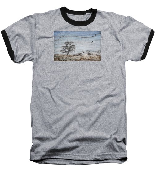Drought Baseball T-Shirt by Alice Cahill