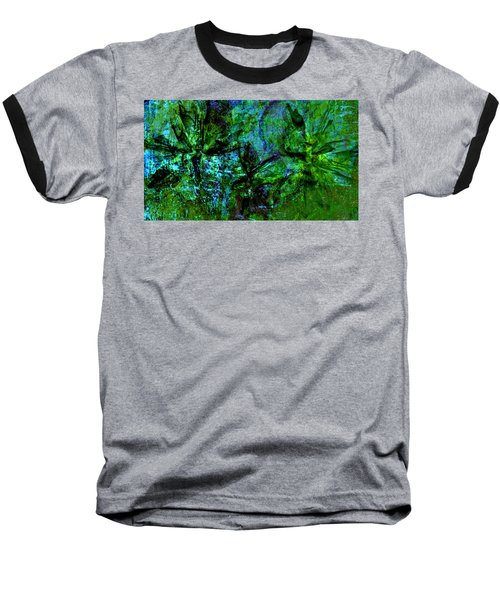 Baseball T-Shirt featuring the mixed media Drowning by Ally  White