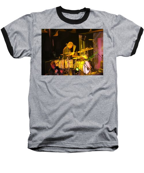 Baseball T-Shirt featuring the photograph Drumer For Newsong Rocks Atlanta by Aaron Martens