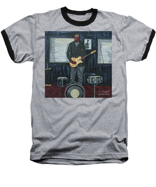 Drums And Wires Baseball T-Shirt by Sandra Marie Adams