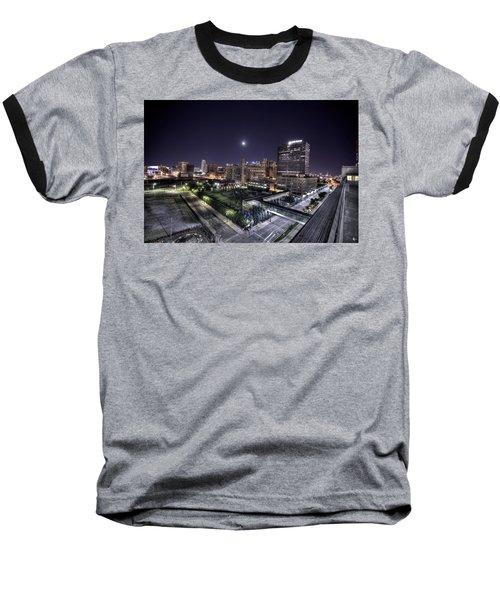 Dte In Detroit Baseball T-Shirt by Nicholas  Grunas