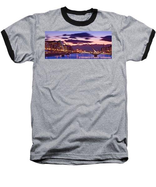 Dublin Docklands At Dawn / Dublin Baseball T-Shirt