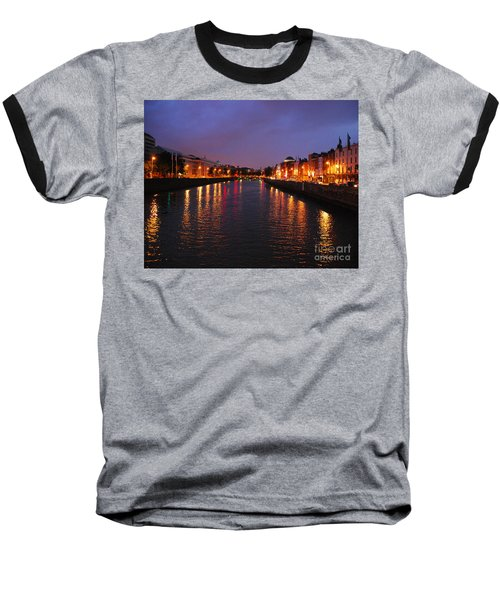 Dublin Nights Baseball T-Shirt by Mary Carol Story