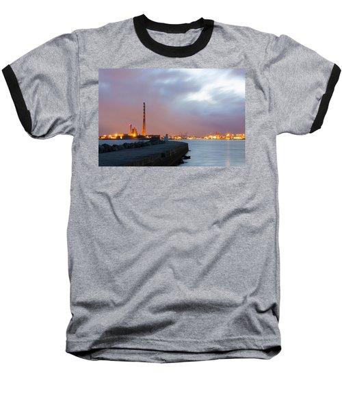 Dublin Port At Night Baseball T-Shirt