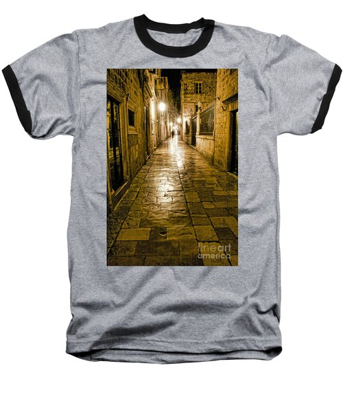 Dubrovnik Streets At Night Baseball T-Shirt